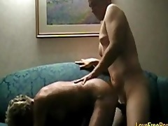 golden-haired granny woman fuck hard