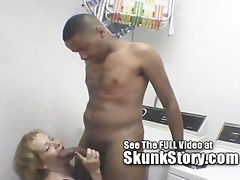 older large titty blond copulates skunk in the