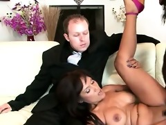 dark brown mother i makes her perv son see her