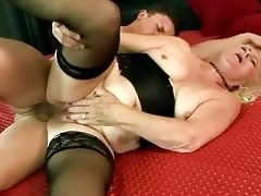 unattractive grandma getting drilled coarse