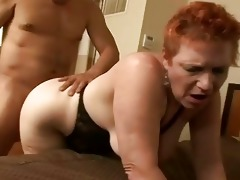 redhead granny getting her vagina pounded on a