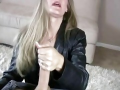mother i sara james give hand job to large knob