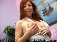 fiery redhead mommy with bigboobs engulfing part8