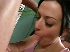 dark brown momma receives her face hole full of