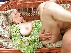 very old granny acquires drilled hard