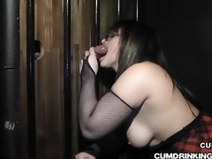 wife sucks off over 1011 knobs during gloryhole