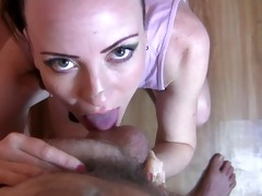 pov oral stimulation & cum gulp by cute hawt