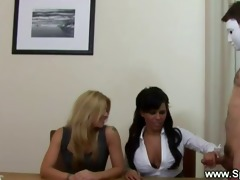 horny office hotties audition hard dick