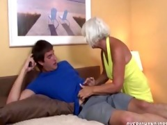 granny jerking the juvenile boy