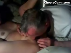 grandad giving grandma great oral stimulation sex