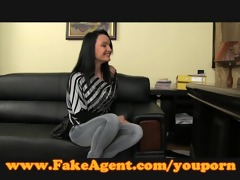 fakeagent older dark brown takes anal in casting