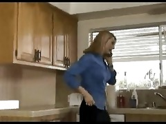 lustful wife drilled in the kitchen