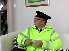 dilettante boy in uniform plays with older