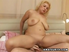 overweight dilettante wife fucking with facial