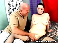 fleshly big beautiful woman screwed with nylons on
