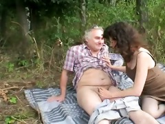 outdoor mature pair sex