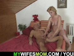 she is helps her son-in-law cum and receives