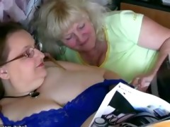 bulky granny and old granny masturbating