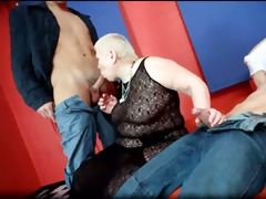 horny large boobed plump obese breasty blond