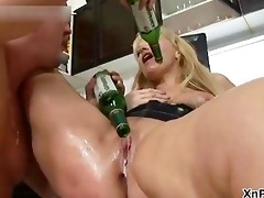 thick golden-haired mother i receives her big