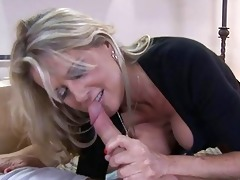 blond mother i with big tits sucks younger