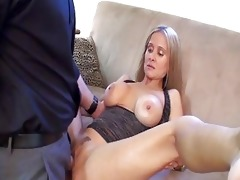 sluty blond milf with giant breast in darksome