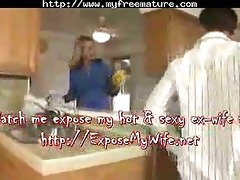 mom drilled in her kitchen