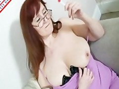 mature likes engulf lolipop and cock
