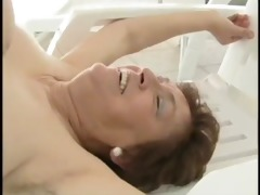 granny poolside fuck - older porn tube movie