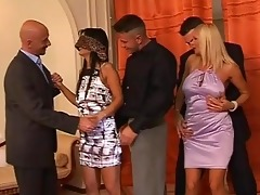 hot milfs acquire groped at swingers party