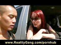 concupiscent cheating redhead wife wench drilled