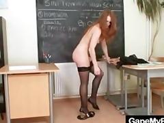 redhead chick denisa heaven naughty vagina gaping