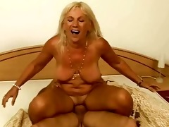 wicked breasty granny enjoys hard sex