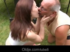 youthful lustful beauty engulfing an old pervert