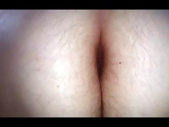 wifes long pubic hair &; hairy arse crack as