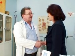 hairy muff grandma visits pervy woman doctor