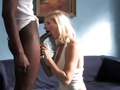 busty golden-haired mother i riding a large dark