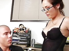 very hawt d like to fuck boss plays with her
