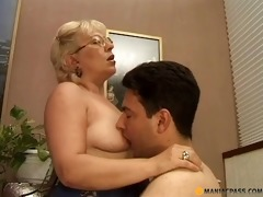 aged dame giving a sex lesson