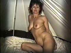 yvonne receives in nature in a tent