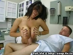 breasty sweetheart on top of a patient