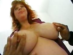 preggy mamma with massive milk sacks in some