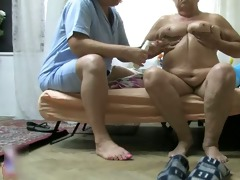 obscene aged whore acquires her body rubbed part10