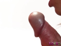 love creampie breasty mama in nylons takes cum