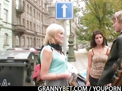 granny pleases youthful dude