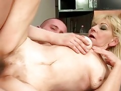 granny with bushy fur pie getting fucked