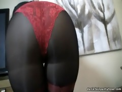 hot a-hole wife in seamed hose & panty