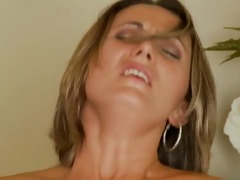 golden-haired mother i thick cum facial