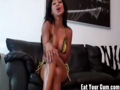 take up with the tongue your cum for your hawt