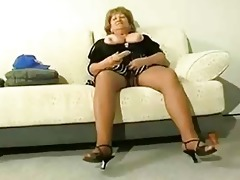 overweight aged cougar acquire sexually excited